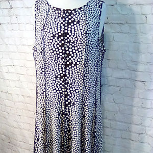 Forever Woman size 18 black & white 12 panel dress